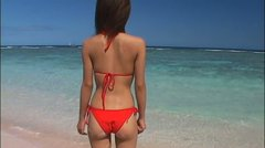 Megumi Fukushita is the queen on the beach whenever she goes there