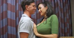 Sextractive mom Adrianna seduces young guy
