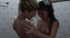 Sexy blonde chick Tiffany is taking shower with her girlfriend