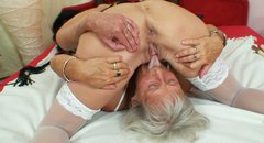 Trashy mature slut Cecilie is having passionate 69 position sex