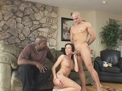Bald headed dude drills her  girlfriend  hard