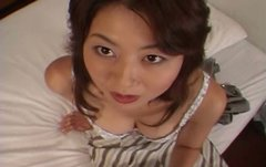 Japanese MILF whore Misa Yuki is stripping in a kinky solo video