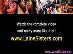 Lane sisters and friends lesbian strapon play