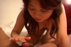 Japanese Misa Yuki enjoys several drops of  cum