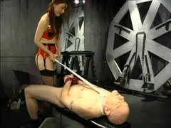 Hot oriental mistress sits on her boyfriend's face