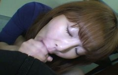 Ryo Hirase gives her  boyfriend  blowjob on a pov cam