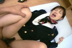 Slutty air hostess Mana Iizuka fucking on POV amateur vid