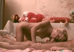 Real hot amateur blondie gets caught on cam while riding a dick