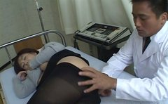Horny doctor finger fucks tiny asshole of Japanese slut Nanami Komachi