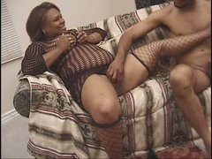 Rounded fat slut Candy Love gives a hot blowjob and gets banged bad in a missionary position