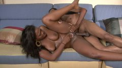 Mouth watering black babe Aryana Starr is fucked badly in an awesome sex clip