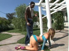 Irresistible whore Sophie Dee wants to be pounded by a bunch of black dudes