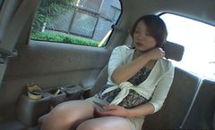 A bit plump Asian chick Ai Tohno desires to suck a cock right in the car