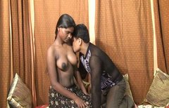 Shameless Indian chick Feroze gets her tits milked and massaged