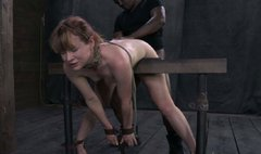 Salty nympho Claire Robbins gets drilled in doggy style in BDSM sex video