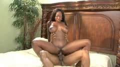 Ebony goddess Diamond Jackson loves riding black monster cocks