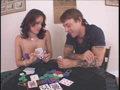 Torn slut Tory Lane loses the poker game and gets brutally fucked