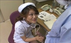 Wild Japanese nurse sucks patient's dick to cheer him up a lil