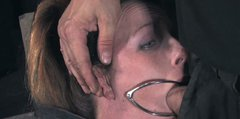 Hooker Brina James gets fixed with ropes and has ring gags in her mouth