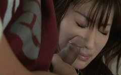 Sextractive Sakura Report blows cock reluctantly