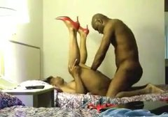 Curvy ebony housewife gets impaled by BBC on homemade video