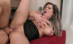Bootylicious milf Candy Hot gets a hard rod in her asshole