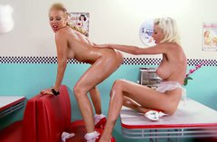 Remarkable blonde brick house Puma Swede licks her sweet candy girl