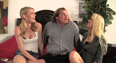 Evan Stone sucks Alana Evans and  Allie James nipples