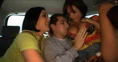 Dirty bitches Tory Lane, Claire Dames and Alexa Jordan fuck a guy in a truck