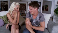 Hungry for cock Stevie Shae seduces a handsome guy and sucks his dick deepthroat