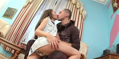 Playful brown haired gal Stacy Snake receives cunnilingus