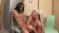 Beauteous slut Nadia eats and fingers Tasha's sweet pussy