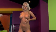 Aphrodisiac Jacline strips seductively and masturbates in front of the camera