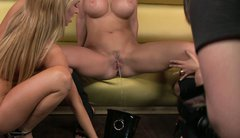 Aleska Diamond, Aletta Ocean and one more blonde babe eat and finger each other
