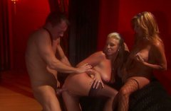 Blondes Demi Delia and Emilianna participate in hot threesome action