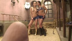 Blonde sex angel Sophie Moone and brunette demoness Zafira eating each other
