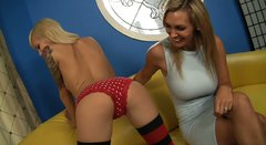 Voracious MILF Tanya Tate and sexy teen Emma Rae show their goodies