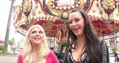 Jana Foxy gets horny in the amusement park and wanna eat wet pussies
