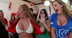 Nikki Sexx, Diamond Kitty, Alexis Fawx and Richelle Ryan crash the college party