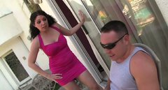 Cute and horny brunette milf Kiki D'aire easily seduces young Romeo Price