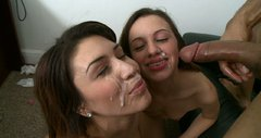 Friends forever and ever Jean Taylor and Natalie Nunez fuck feisty during the casting