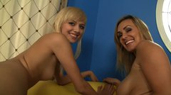 Tanya Tate and Emma Rae sharing one big cock