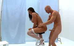 Filthy and beautiful chick Mackenzee Pierce bends over for anal drilling