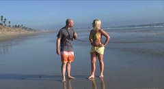 Blonde sex demon Dayna Vendetta fucks Ralph Long after a beach walk