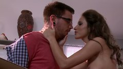 Sweet platable brunette Lizz Tayler gets fucked with her boyfriend