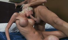 Torn blonde slut Torrey Pines rides Keiran Lee's fat dick ardently