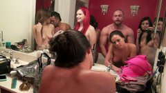 Kinky fricatrices Angel Del Rey & Rahyndee get poked on camera
