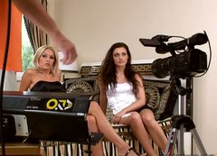 Behind the scene video with Sophie Moone and Aletta Ocean