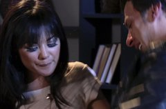 Filipino babe Kaylani Lei gives sloppy blowjob and gets her muff polished