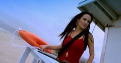 Baywatch hookers Alektra Blue and Rebeca Linares give blowjob